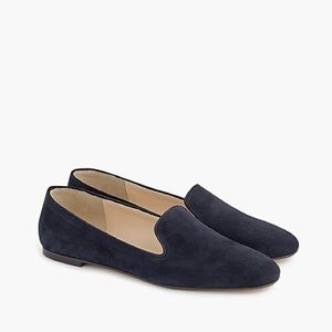 J Crew Navy Blue Suede Loafers